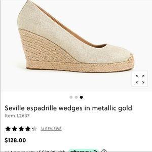 J. Crew Seville  espadrille Wedge  shoes. Size 9